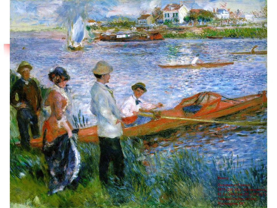 Renoir Oarsmen at Chatou 1879 (200 Kb); Oil on canvas, 81.3 x cm (32 x 39 1/2 ); National Gallery of Art, Washington, DC.