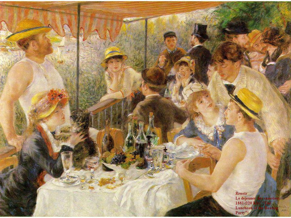 Renoir Le déjeuner des canotiers 1881 (220 Kb); The Luncheon of the Boating Party ;