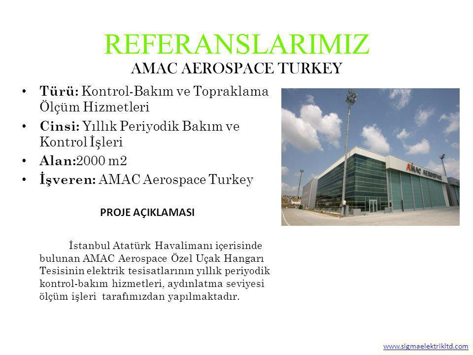 REFERANSLARIMIZ AMAC AEROSPACE TURKEY