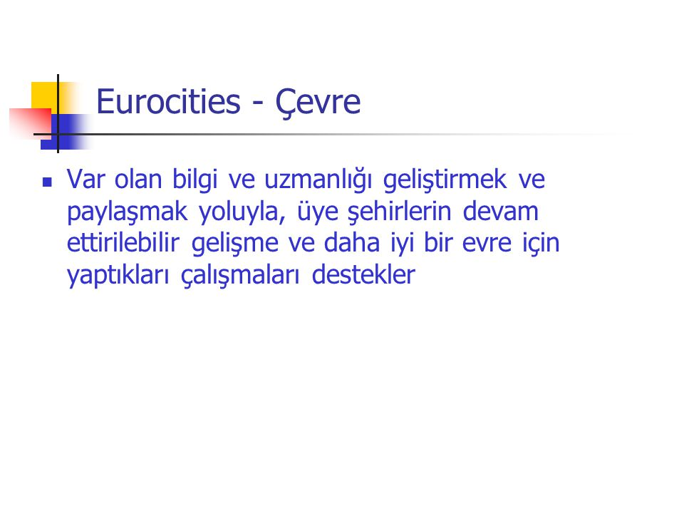 Eurocities - Çevre