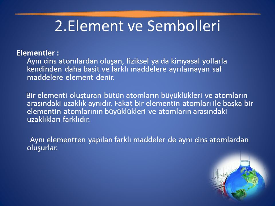 2.Element ve Sembolleri