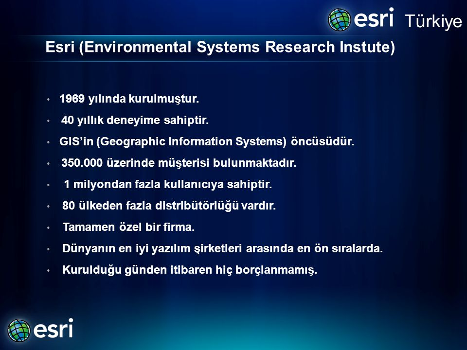 Esri (Environmental Systems Research Instute)