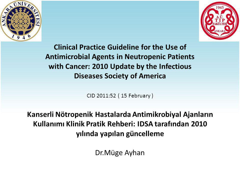 Clinical Practice Guideline for the Use of