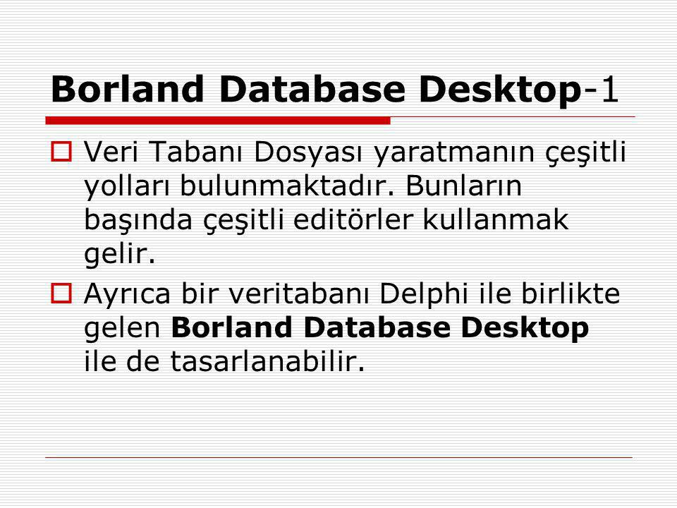 Borland Database Desktop-1