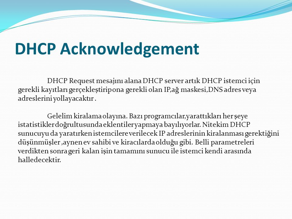 DHCP Acknowledgement