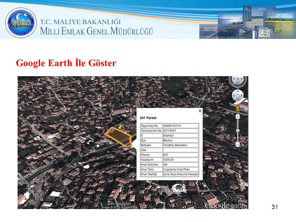Google Earth İle Göster
