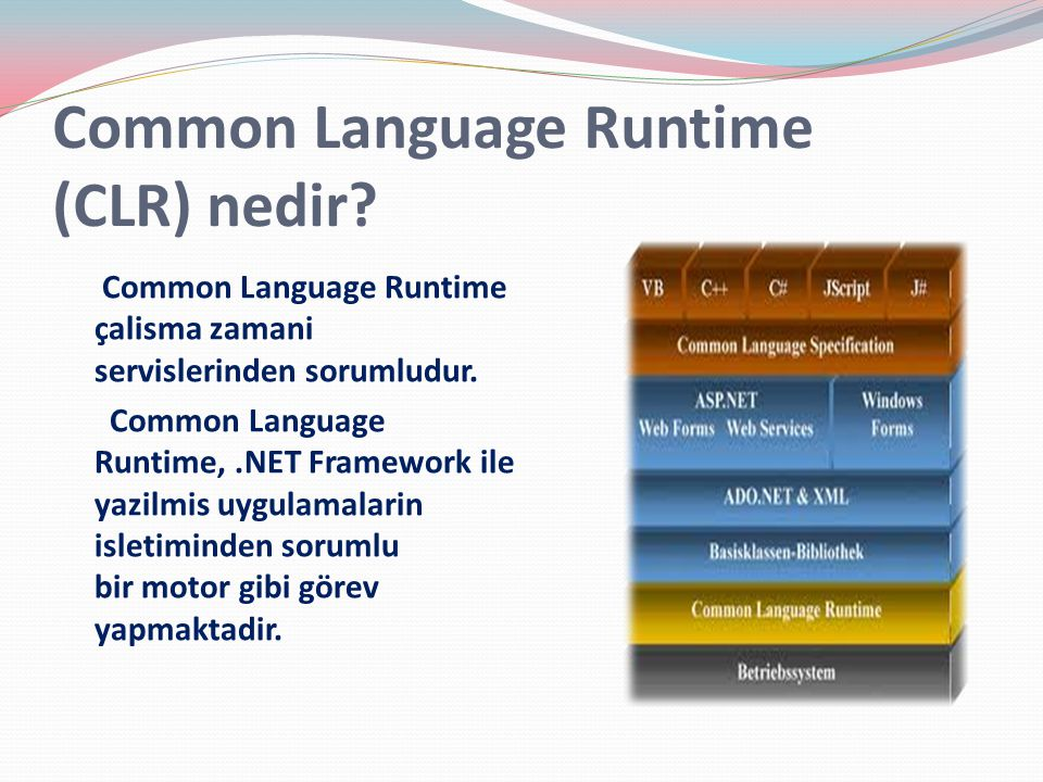 Common Language Runtime (CLR) nedir