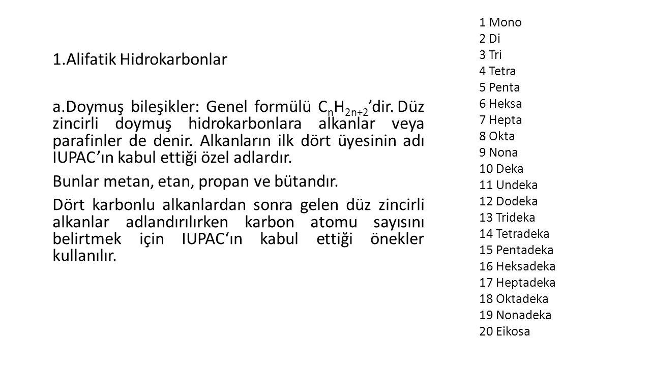 Doymuş hidrokarbonlar: özellikleri, formüller, örnekler