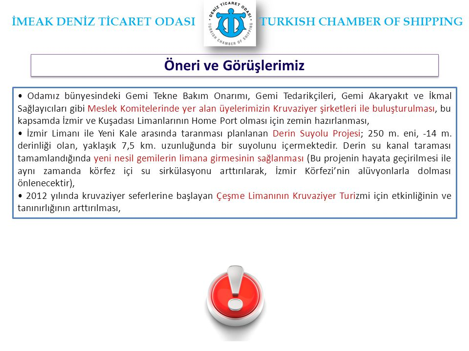 İMEAK DENİZ TİCARET ODASI TURKISH CHAMBER OF SHIPPING