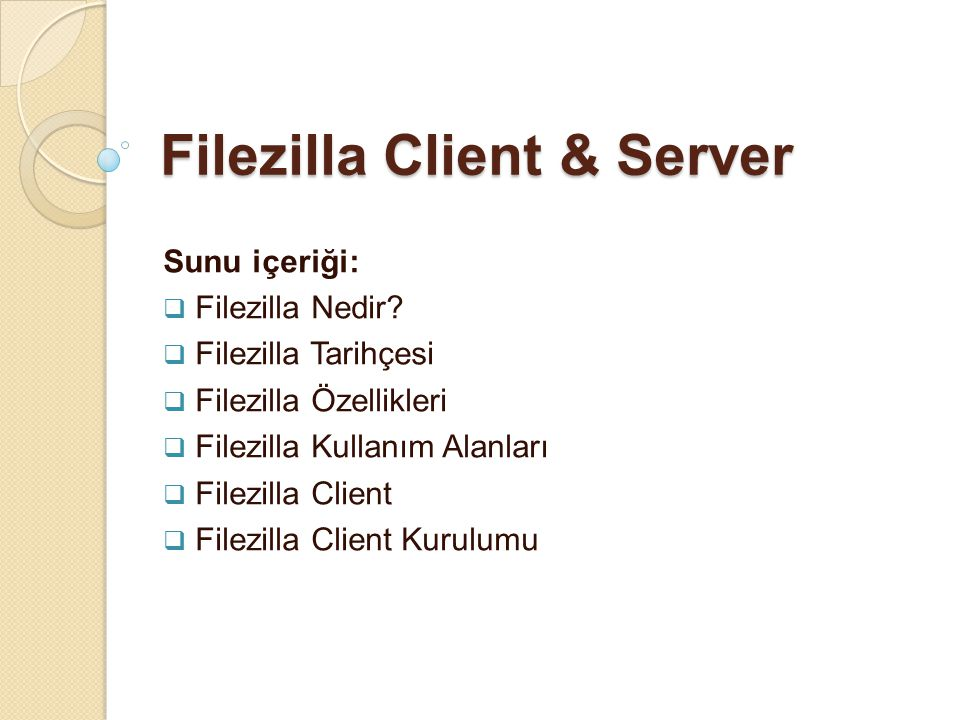 Filezilla Client & Server
