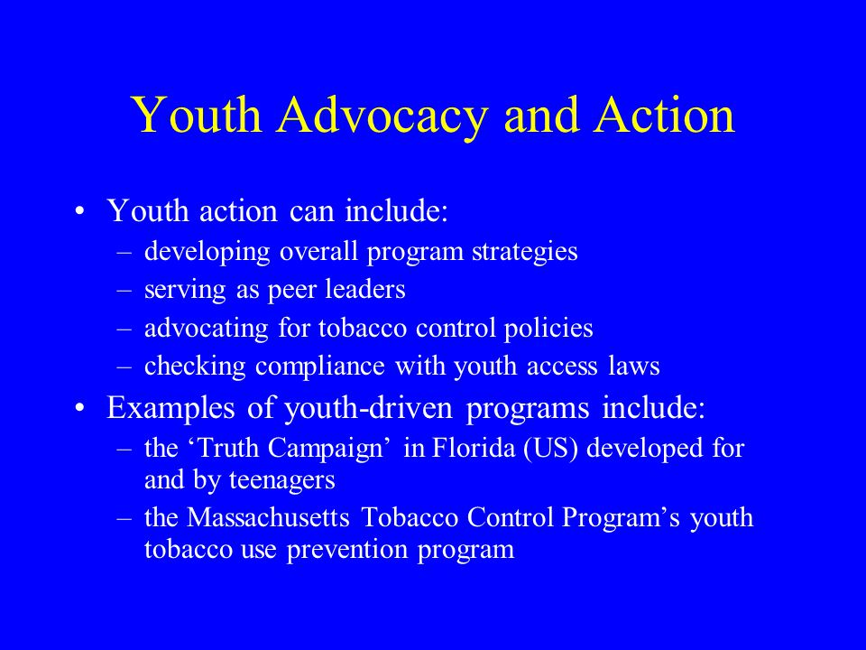 Youth Advocacy and Action