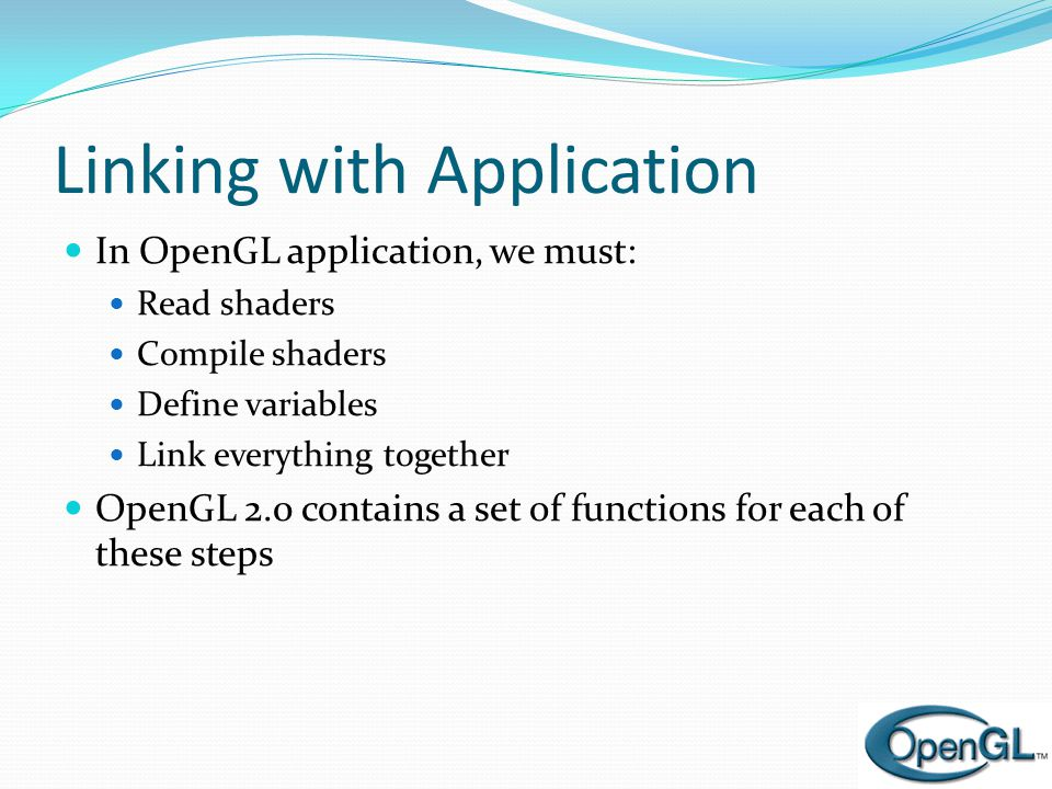 Linking with Application