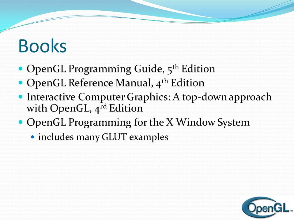 Books OpenGL Programming Guide, 5th Edition