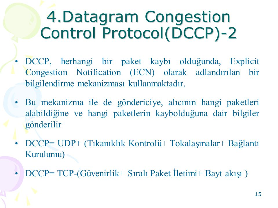 4.Datagram Congestion Control Protocol(DCCP)-2