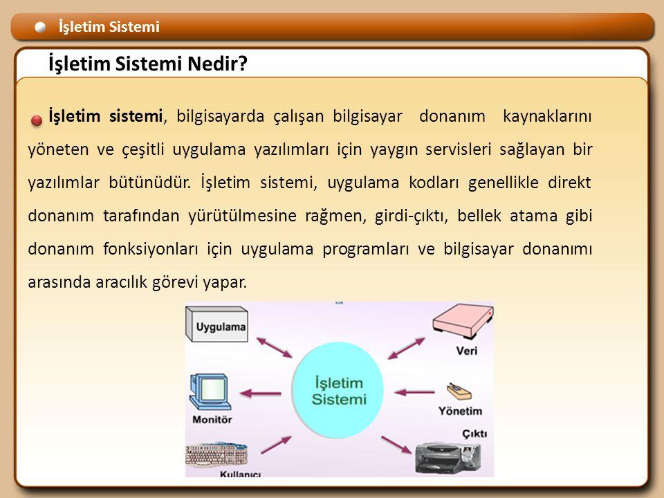 Ana işletim sistemleri türleri