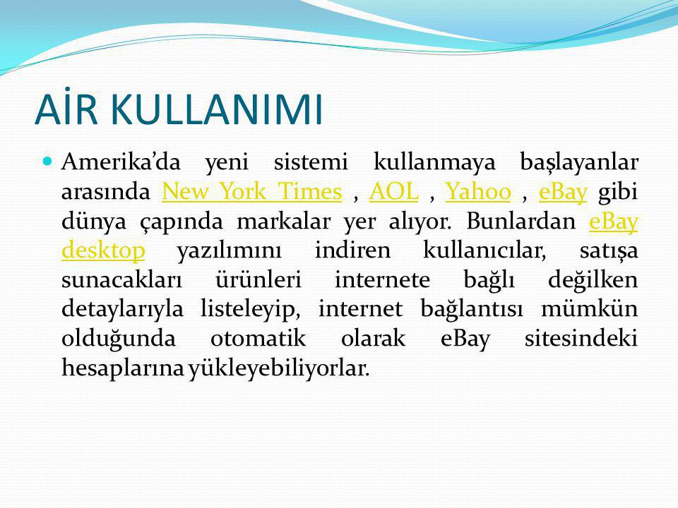AİR KULLANIMI