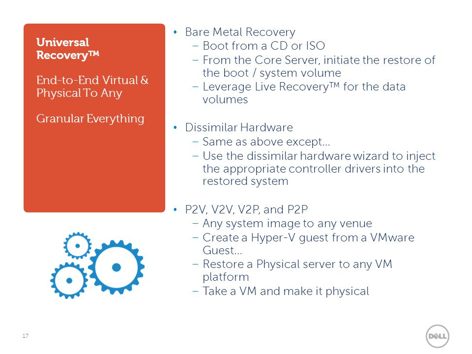 Universal Recovery™ End-to-End Virtual & Physical To Any Granular Everything