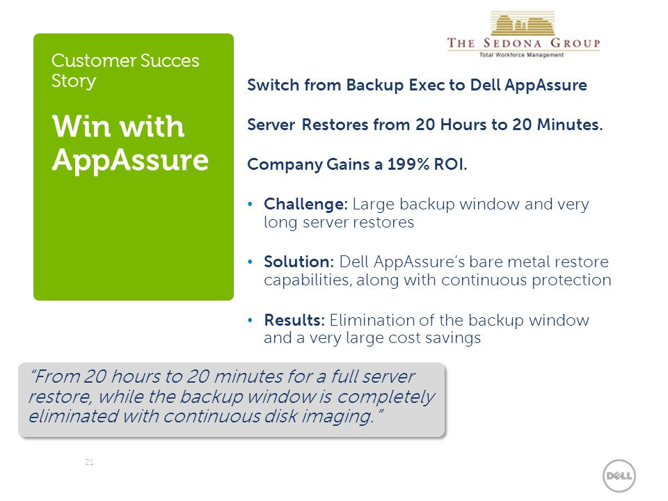 Customer Succes Story Win with AppAssure