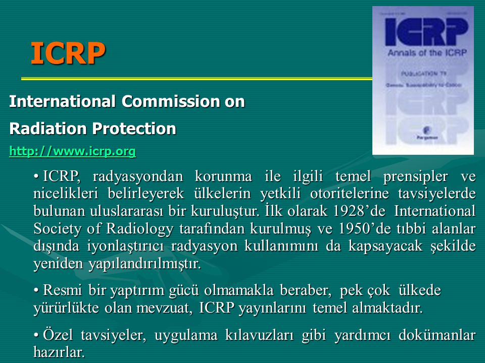 ICRP International Commission on Radiation Protection