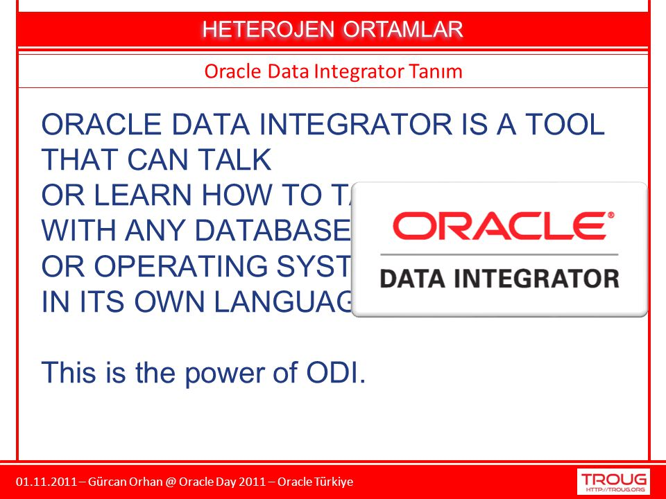 Oracle Data Integrator Tanım