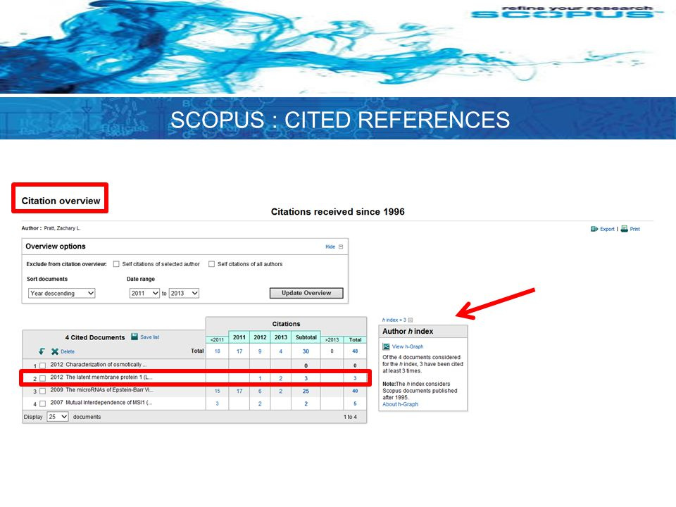 SCOPUS : CITED REFERENCES