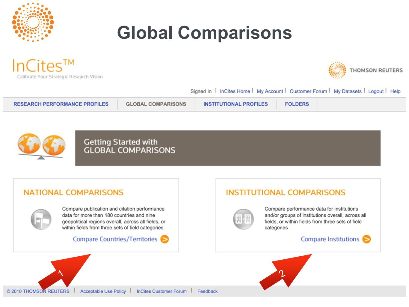 Global Comparisons 1 2