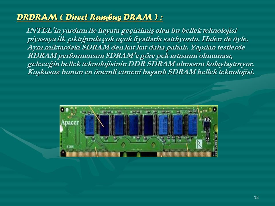DRDRAM ( Direct Rambus DRAM ) :