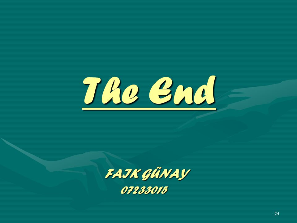 The End FAIK GÜNAY 07233015