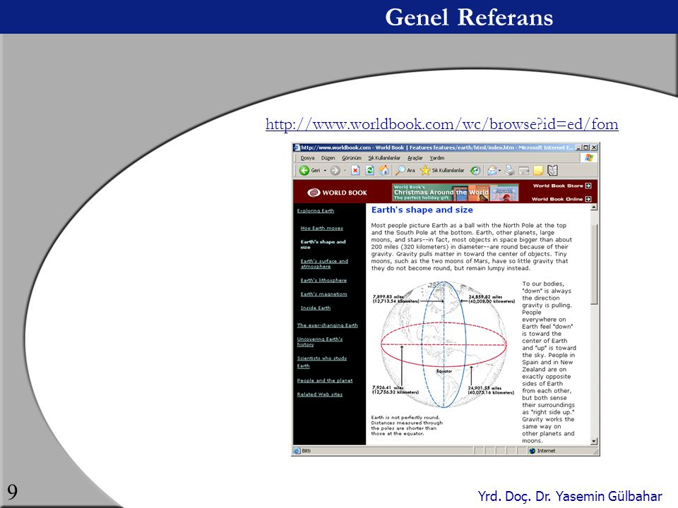 Genel Referans http://www.worldbook.com/wc/browse id=ed/fom