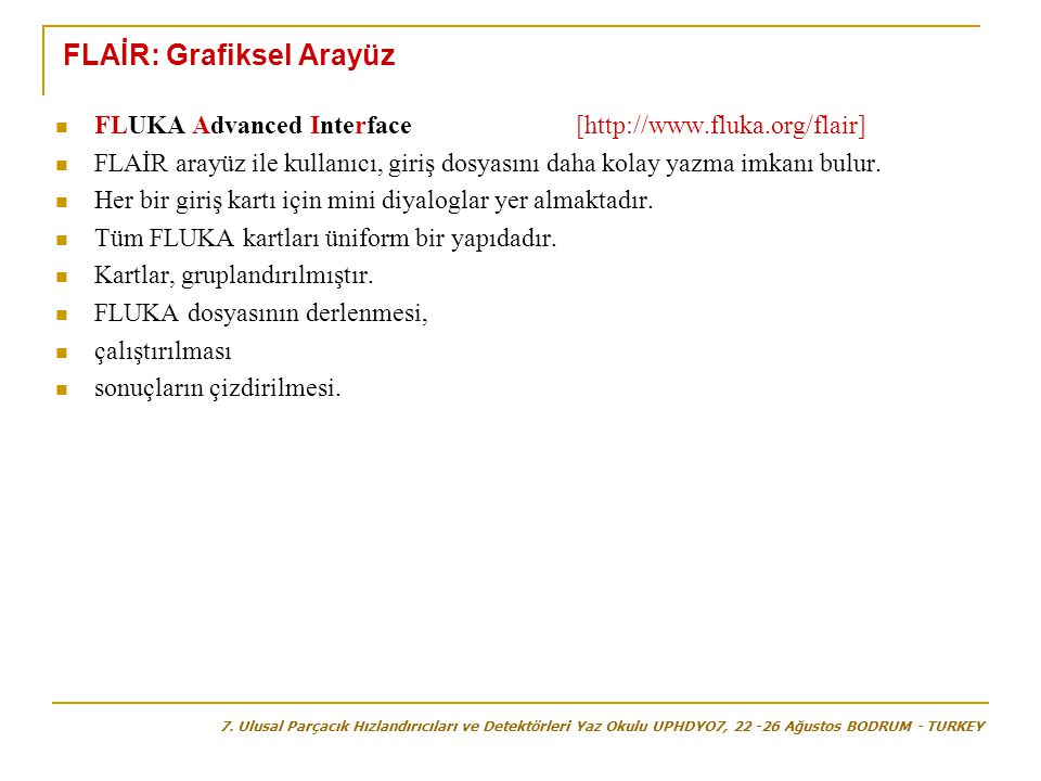 FLAİR: Grafiksel Arayüz