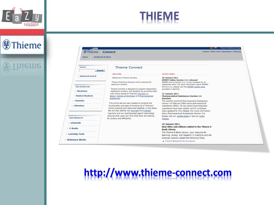 THIEME http://www.thieme-connect.com