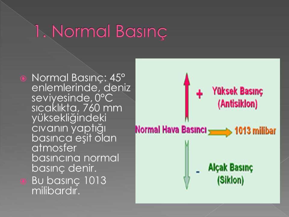 1. Normal Basınç