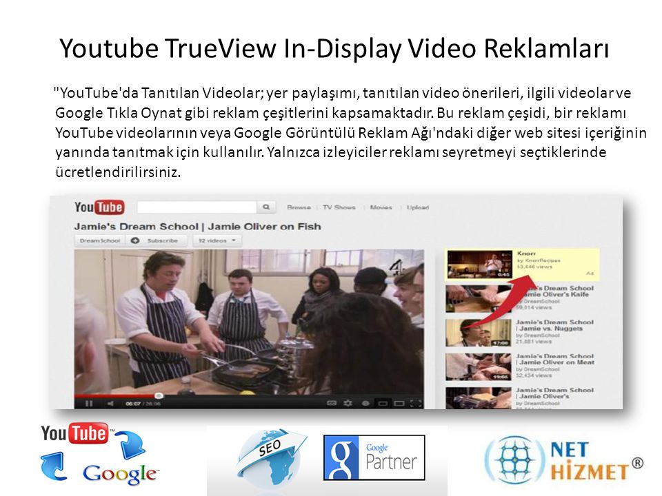 Youtube TrueView In-Display Video Reklamları