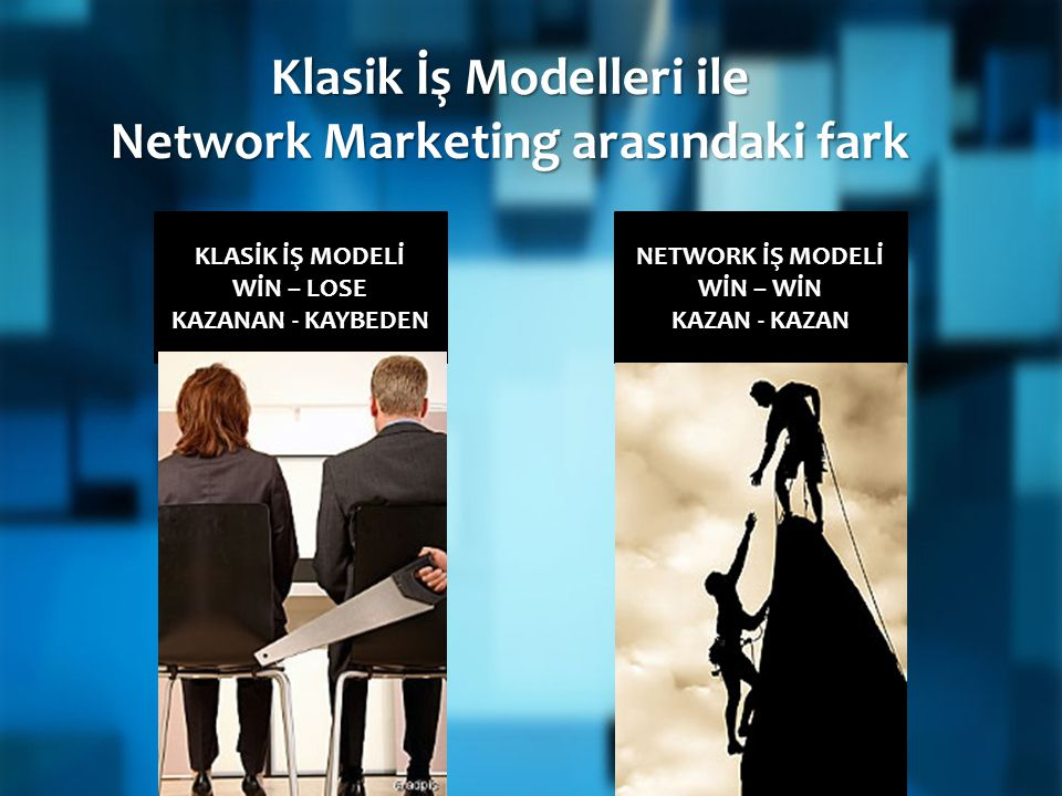 Klasik İş Modelleri ile Network Marketing arasındaki fark