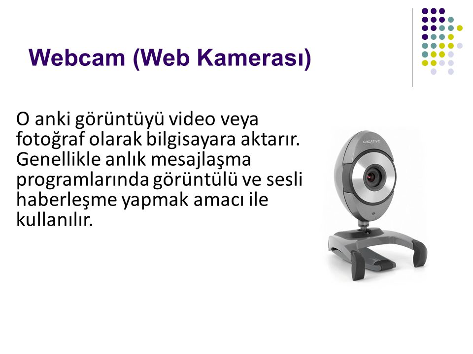 Webcam (Web Kamerası)