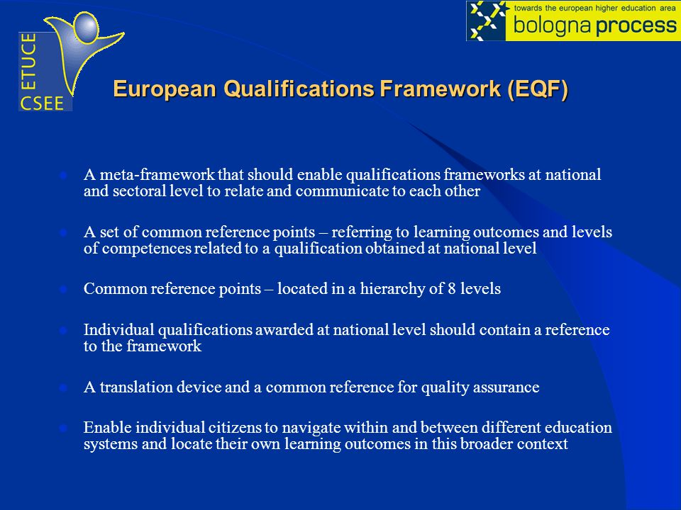 European Qualifications Framework (EQF)