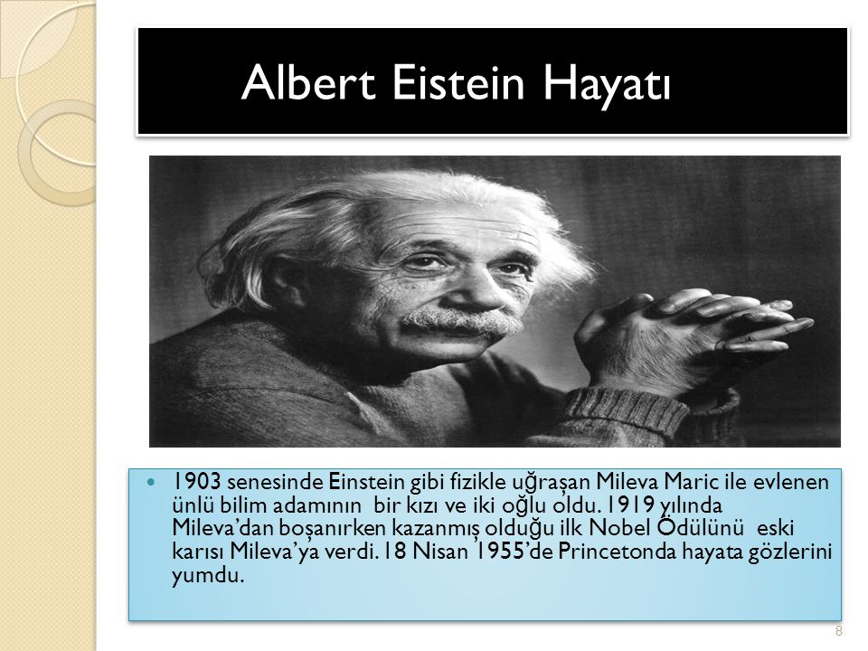 Bilim Adamı Albert Einstein Ppt Video Online Indir