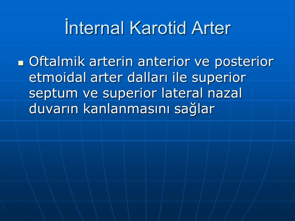 İnternal Karotid Arter