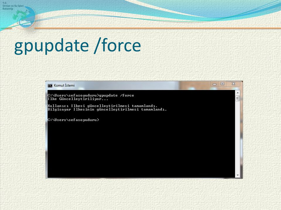 gpupdate /force