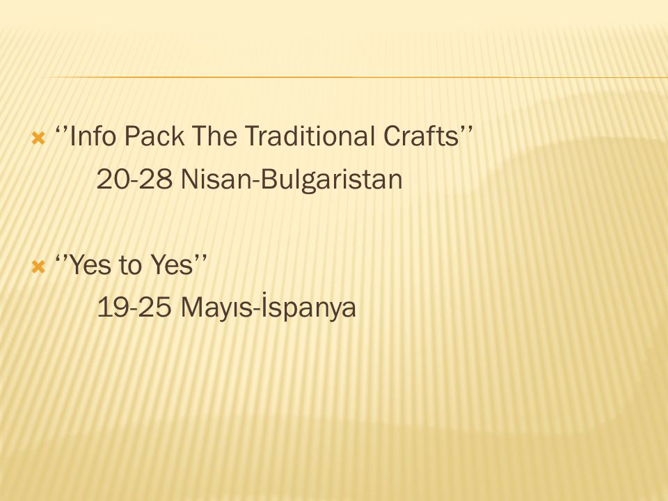 ''Info Pack The Traditional Crafts''