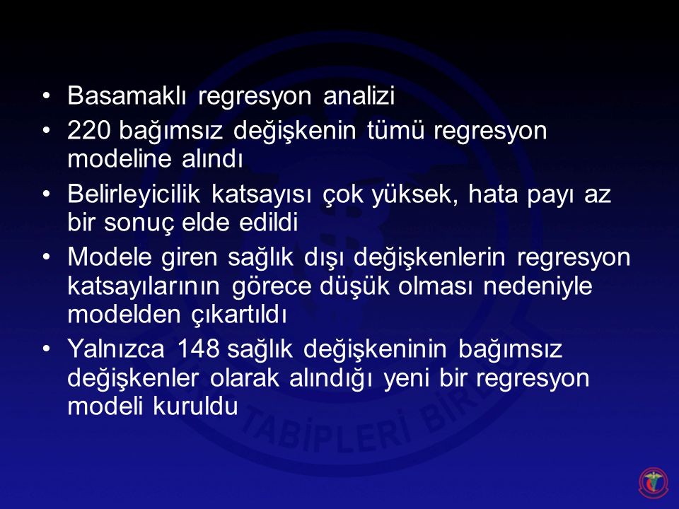 Basamaklı regresyon analizi