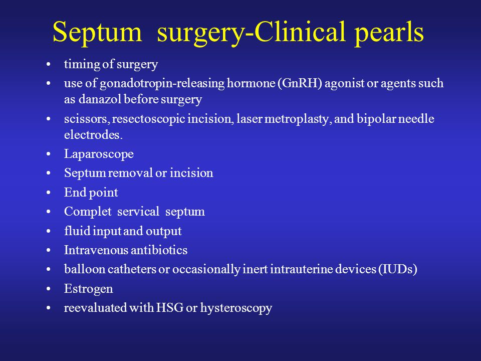 Septum surgery-Clinical pearls