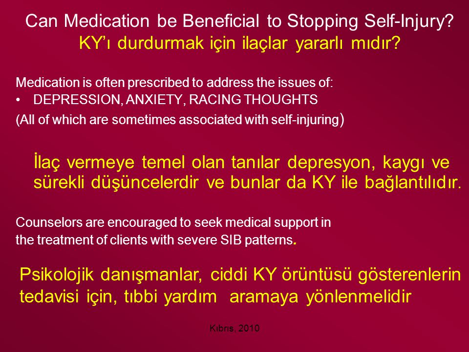 Can Medication be Beneficial to Stopping Self-Injury