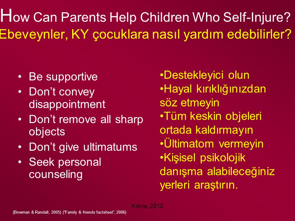 How Can Parents Help Children Who Self-Injure