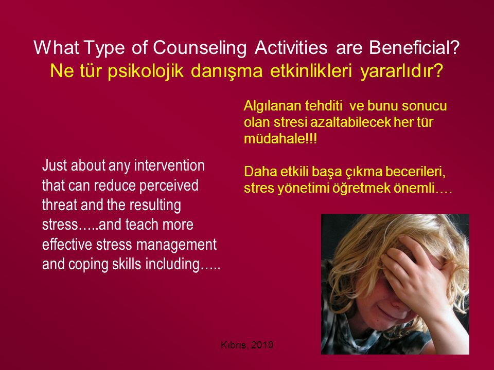 What Type of Counseling Activities are Beneficial