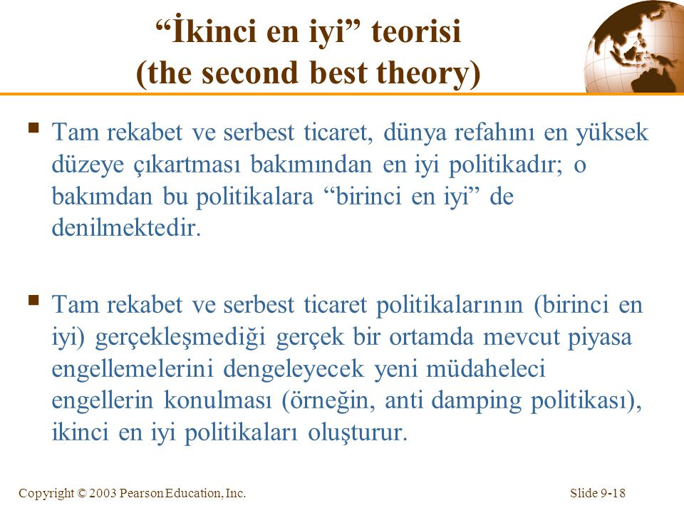 İkinci en iyi teorisi (the second best theory)