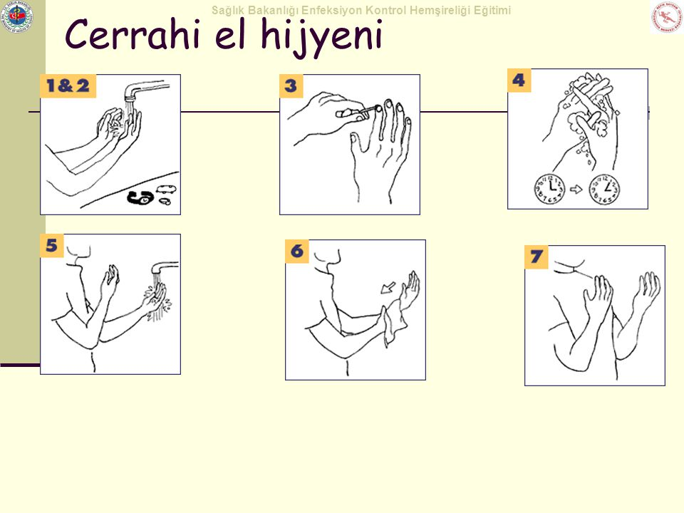 Cerrahi el hijyeni Warm water makes antiseptics and soap work more effectively.