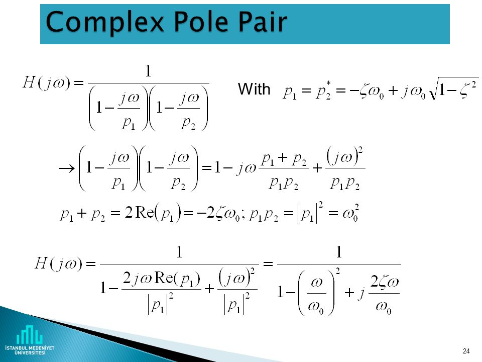 Complex Pole Pair With