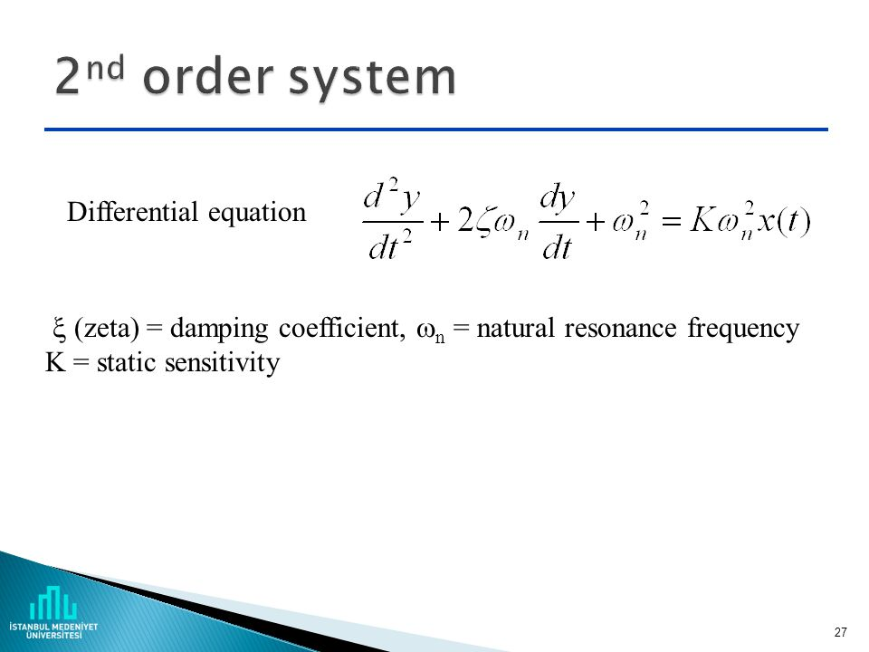 2nd order system Differential equation