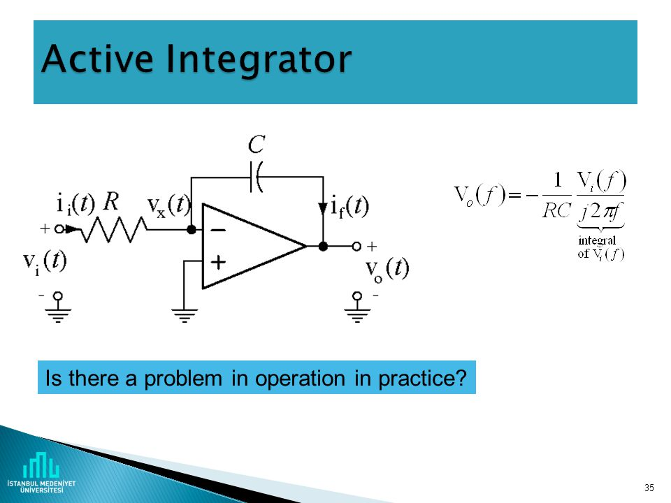 Active Integrator Is there a problem in operation in practice
